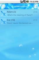 Screenshot of EasySMS Ocean theme