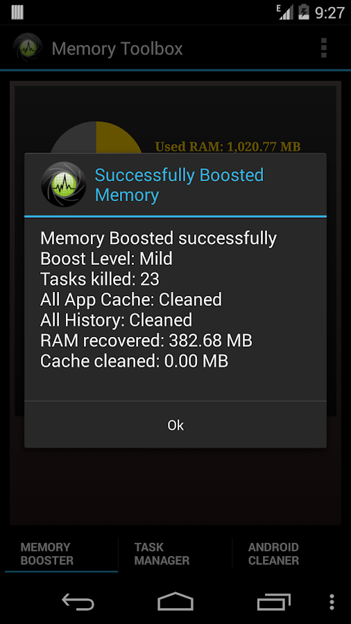 Memory Toolbox for Android- screenshot