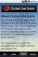 Screenshot of Cricket Live Score