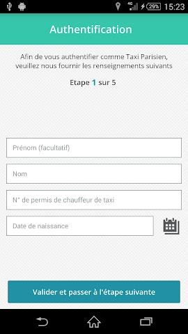 Screenshot 1 Paris Taxis - pro