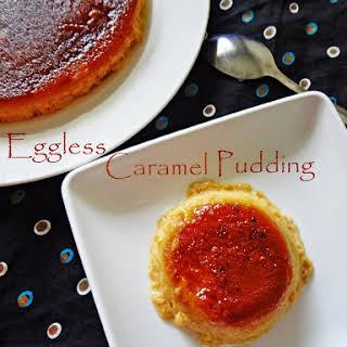 Eggless Caramel Pudding.