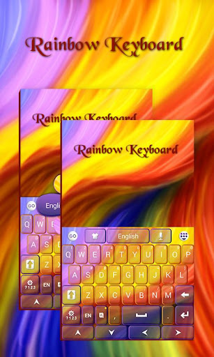 レインボーのキーボード