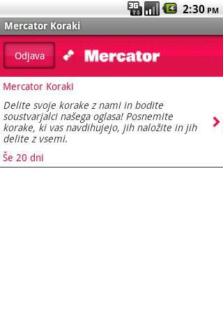 Mercator Koraki