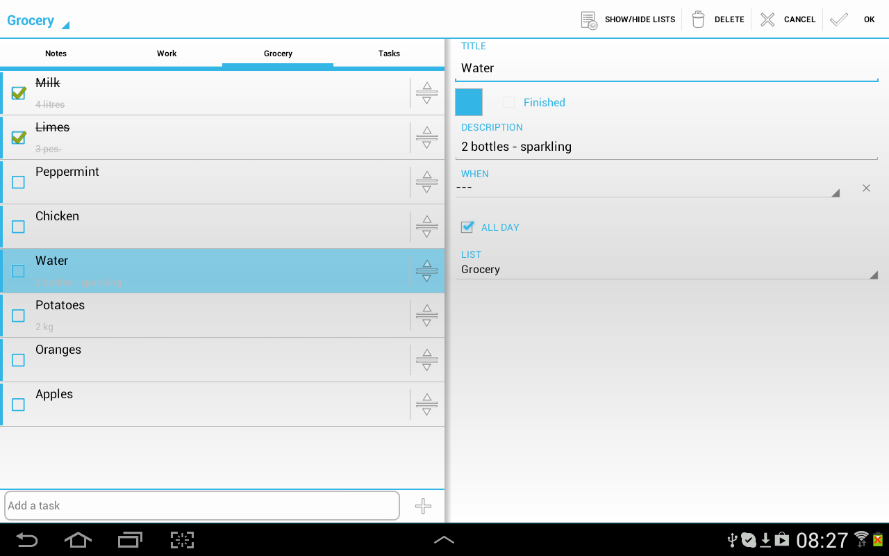 Sync ToDo Tasks Calendar - screenshot