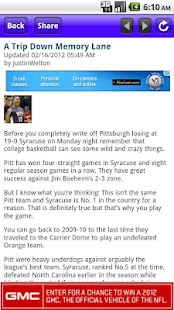 Pitt Panthers Info - screenshot thumbnail