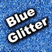 GO SMS Theme - Blue Glitter
