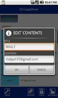 Screenshot of EZ COPY & PASTE