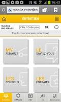 Screenshot of Renault Service