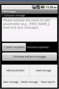 SMeSsaggia bulk customized SMS - screenshot thumbnail
