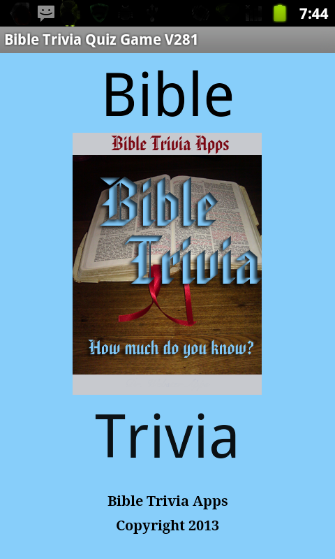 Bible Trivia Quiz Game - screenshot