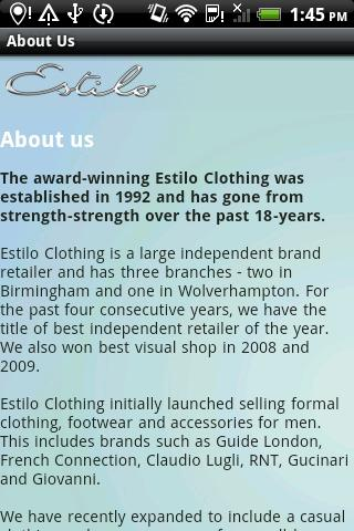 Estilo Clothing - screenshot