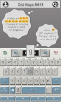 Screenshot of Old Keys E611 Keyboard Theme