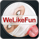 We Like Fun photo camera share icon