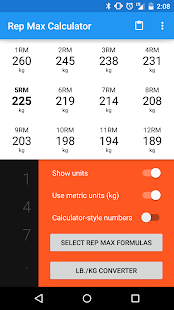 Rep Max Calculator - screenshot thumbnail