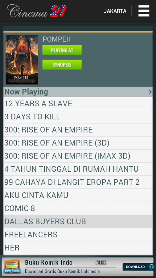 Jadwal Cinema 21- screenshot