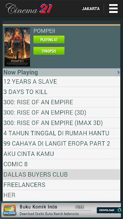 Jadwal Cinema 21 4.0.1 screenshot 240056