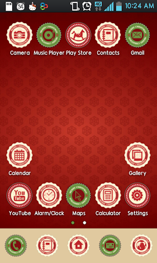 Red Christmas Icon theme