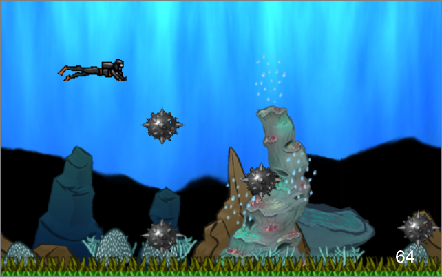 Flappy Diver (Scuba Boom)- screenshot