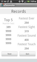 Screenshot of Reflex-o-meter