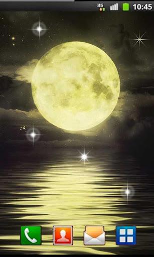 Gold Moon Live Wallpaper