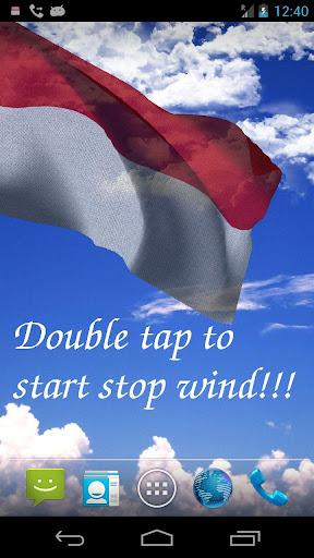 3D Indonesia Flag LWP +