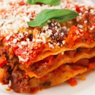 Lasagna with Jack's Sweet Italian Sausage