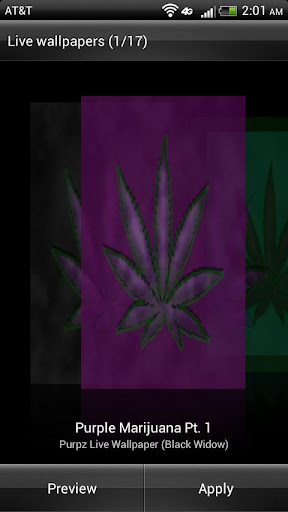 Purple Leaf HD Live Wallpaper