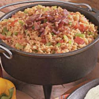 Spanish Rice with Bacon.