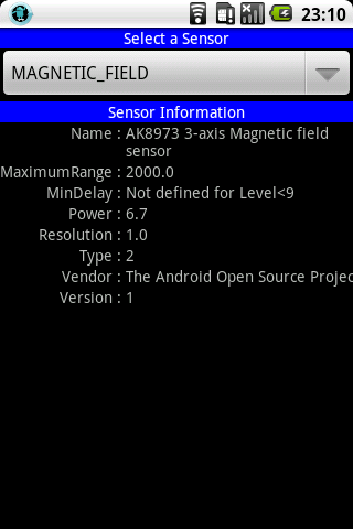 Sensor and GPS Monitor- screenshot