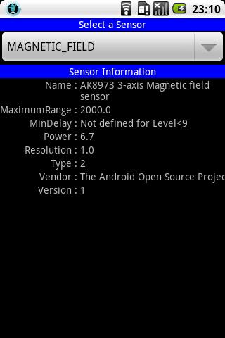 Sensor and GPS Monitor - screenshot