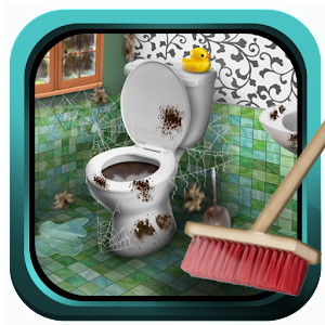 Fun Bathroom Cleaning Game Icon
