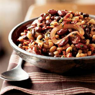 Mixed Bean Salad with Sun-Dried Tomatoes