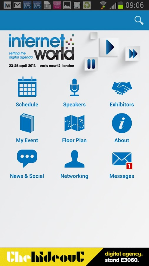 Internet World 2013 Event App - screenshot