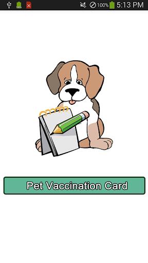 Pet Vaccination Card