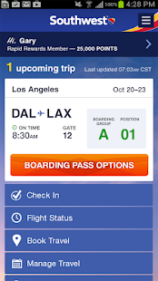 Southwest Airlines - screenshot thumbnail