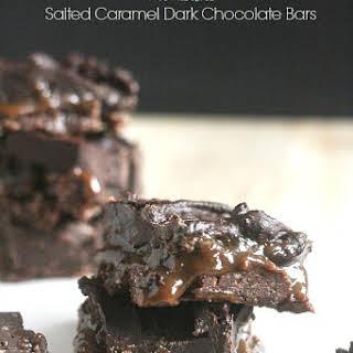 Salted Caramel Dark Chocolate Bars.