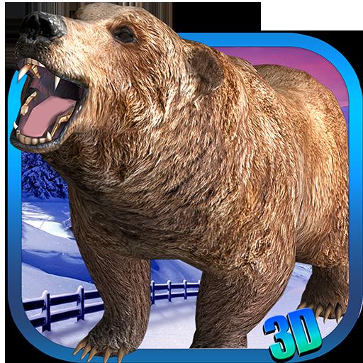 模拟の怒っているクマの攻撃3D LOGO-記事Game