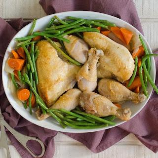 Braised Chicken - Little House on the Prairie Dinner Menu