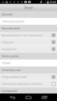 Screenshot of French-Polish Dictionary