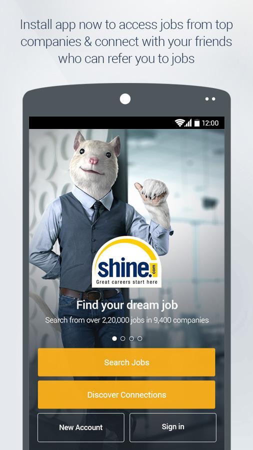 shine com job search