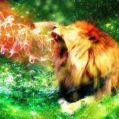 Cool Fire Lion Live Wallpaper