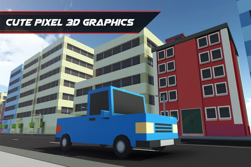 Block Pixel Traffic Racer 2015