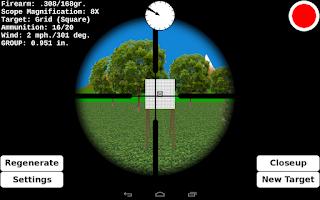 Screenshot of Target Shooting Practice