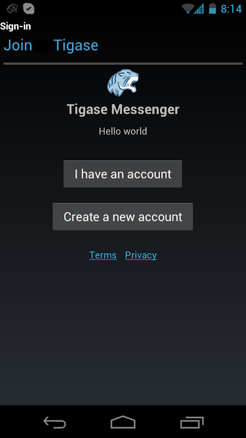 Tigase Messenger- screenshot