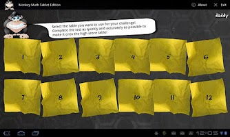 Screenshot of Monkey Math Tablet Edition