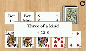 Screenshot of Draw Poker