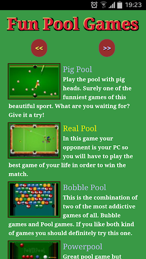 Fun Pool Games