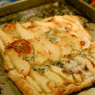 Roquefort Pear Honey Tart