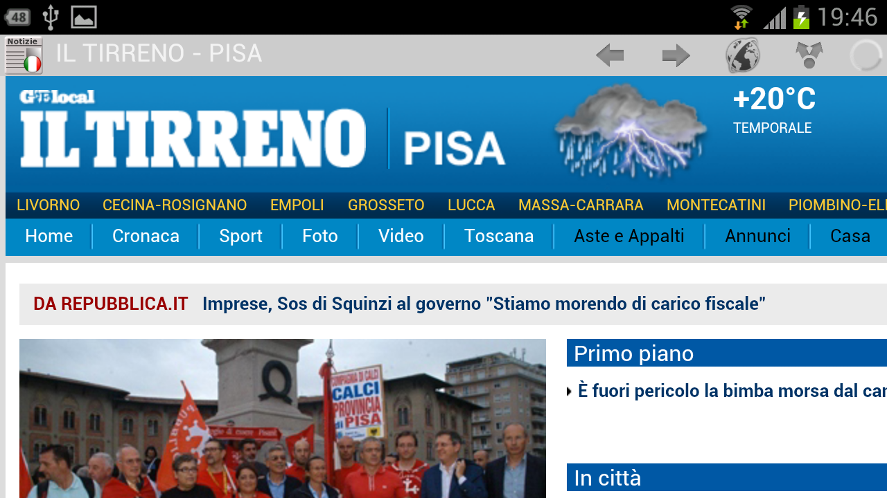 Italia newspapers - screenshot