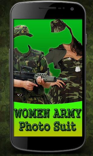 Woman Army Suit Photo Maker